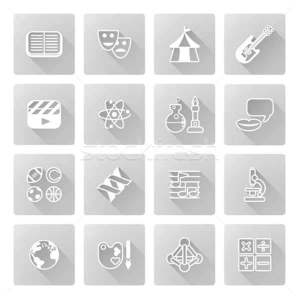 Education or quiz subject icons Stock photo © Krisdog