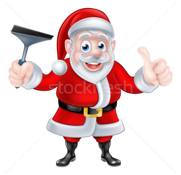 Desenho animado natal papai noel Foto stock © Krisdog