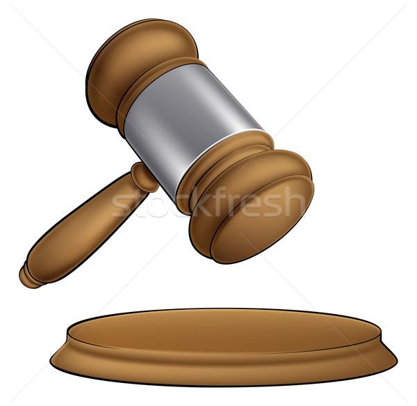 Fából készült bíró kalapács bíróság árverés vásár Stock fotó © Krisdog