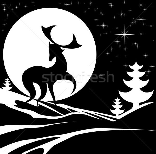Christmas Stag Illustration Stock photo © Krisdog