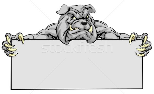 Stock photo: Bulldog Sports Mascot Sign