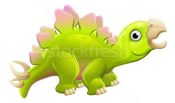 Cute Cartoon Dinosaur Stegosaurus  Stock photo © Krisdog