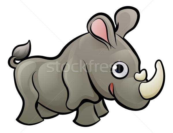 Rhino zwierzęta safari książki dziecko zabawy Zdjęcia stock © Krisdog
