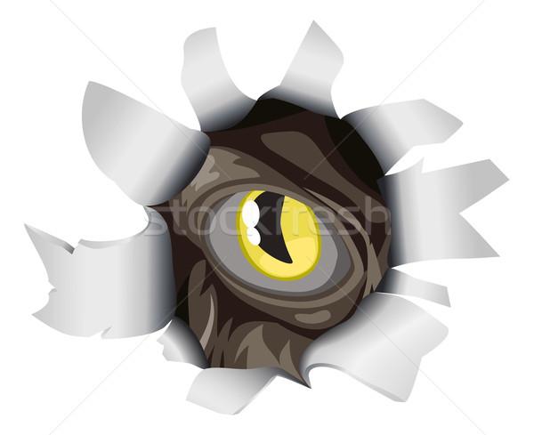 Criatura olhando rasgar lol olho buraco Foto stock © Krisdog