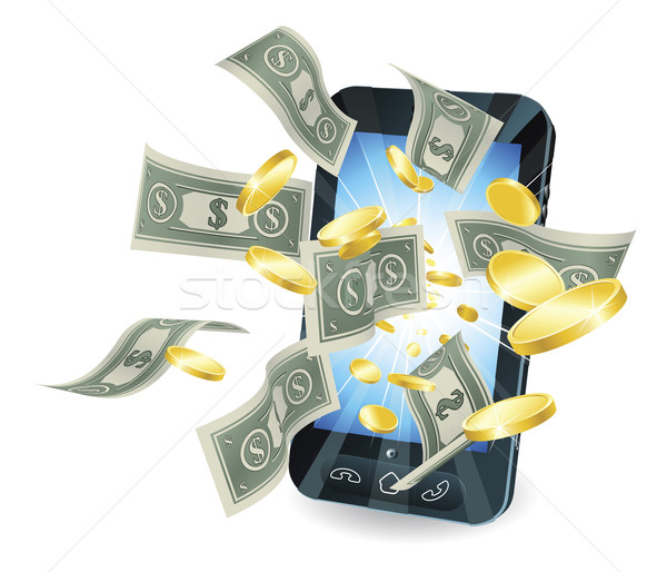 Money mobile phone concept Stock photo © Krisdog