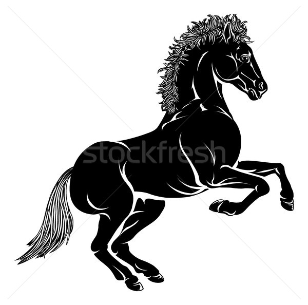 Stylised horse illustration Stock photo © Krisdog