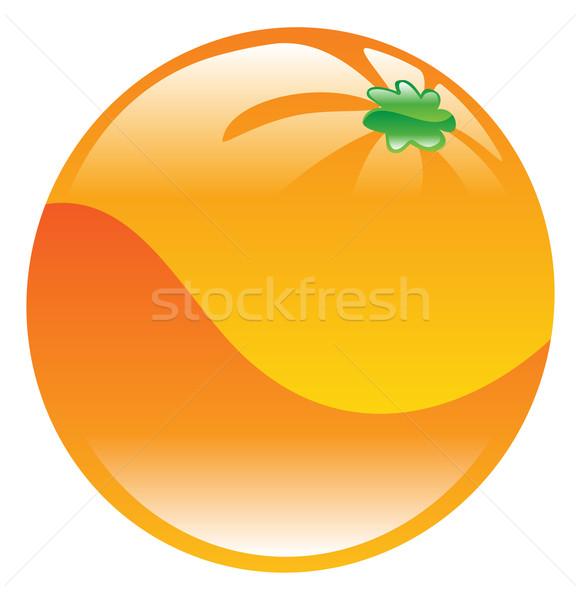 Ilustracja pomarańczy ikona sztuki pomarańczowy Zdjęcia stock © Krisdog