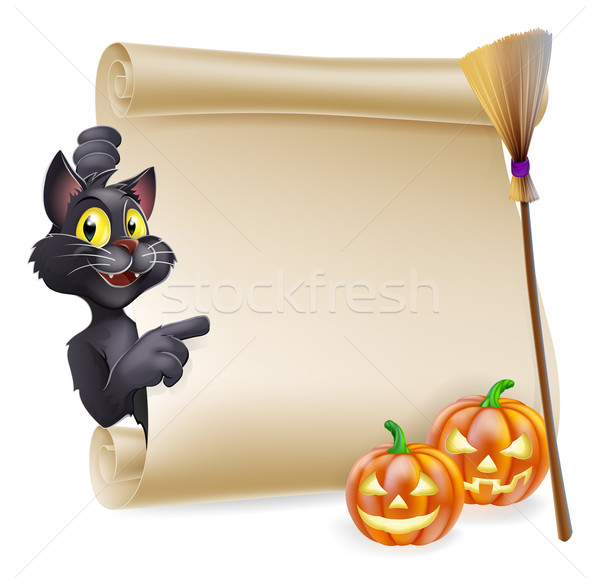 Halloween Scroll Sign Stock photo © Krisdog