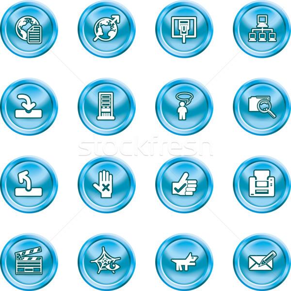 Site ícones do internet conjunto brilhante escritório olho Foto stock © Krisdog
