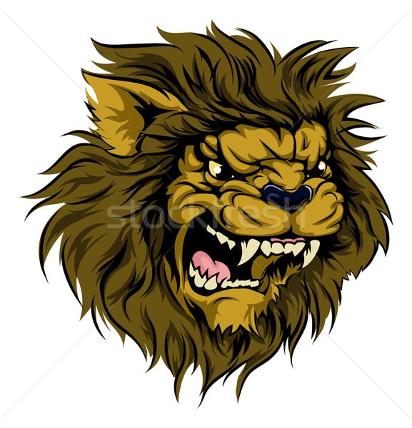 Lion mascot character Stock photo © Krisdog