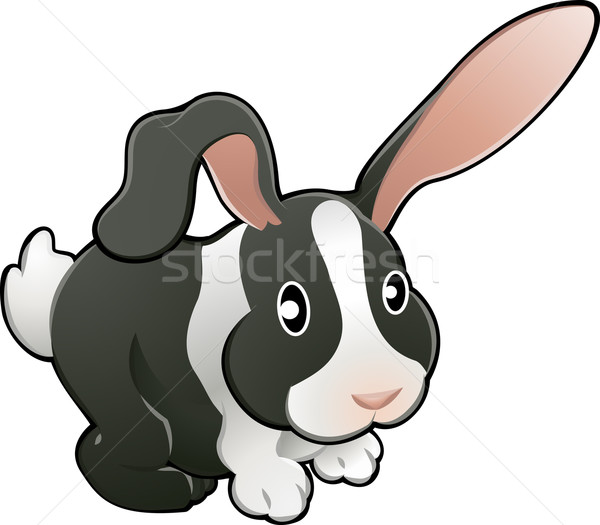 Cute lovable rabbit vector illustration  Stock photo © Krisdog