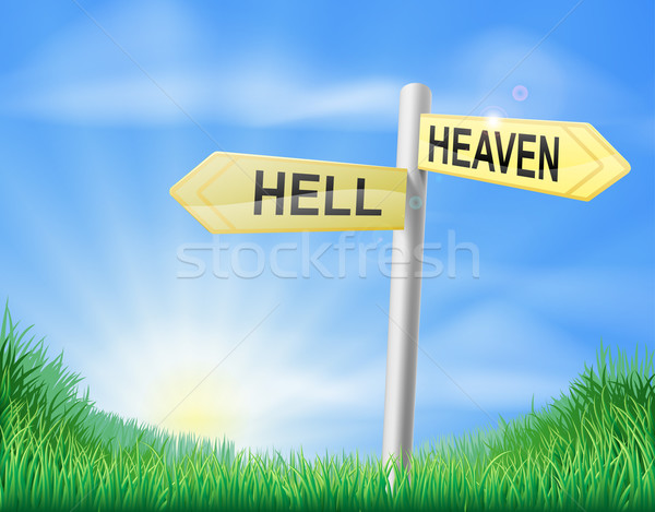 Heaven or Hell decision sign Stock photo © Krisdog