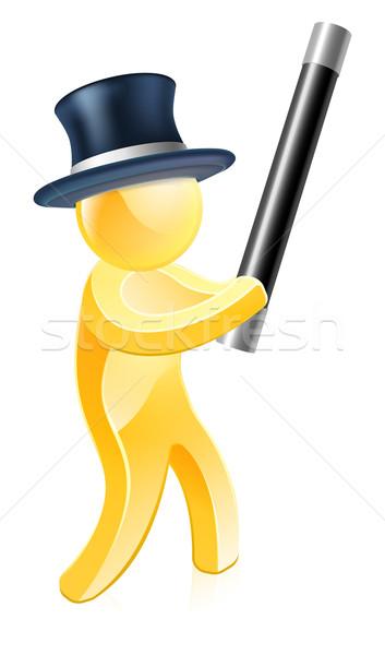 Bűvész felső kalap illusztráció férfi terv Stock fotó © Krisdog