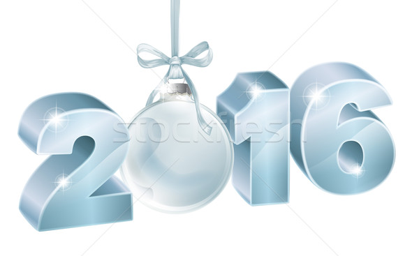 New year 2016 decoration Stock photo © Krisdog
