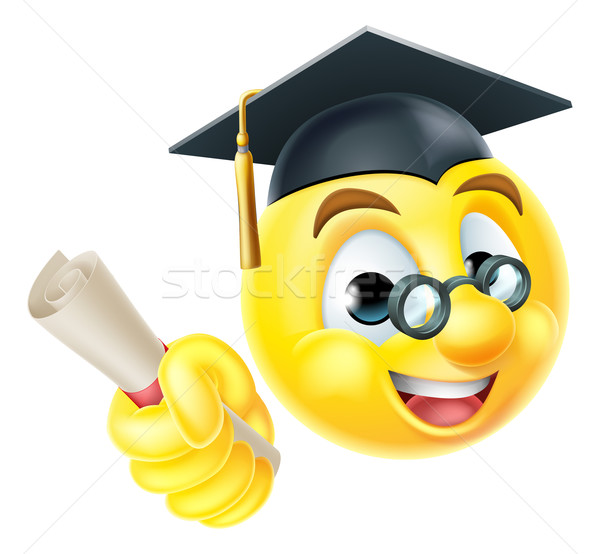Stock photo: Graduate Graduation Emoji Emoticon