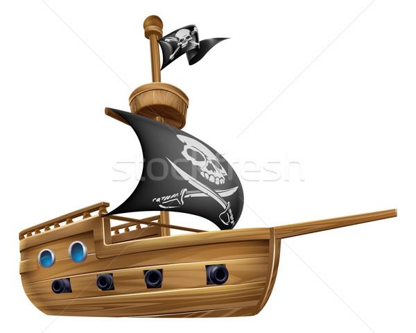Pirate Ship Cartoon Stock photo © Krisdog