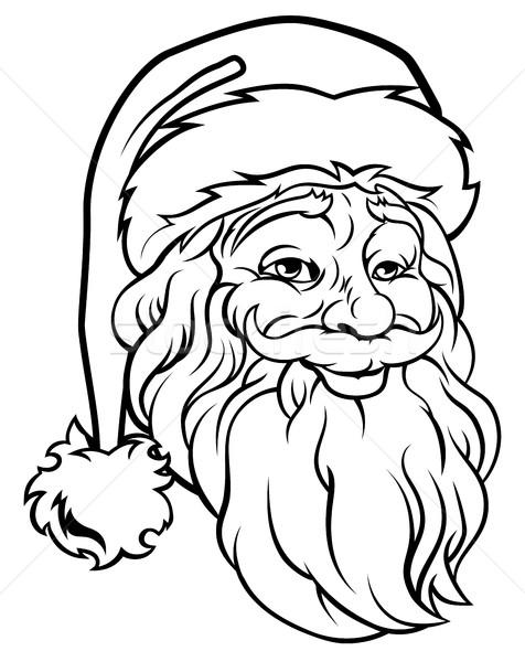 Christmas Santa Claus Vintage Style Stock photo © Krisdog