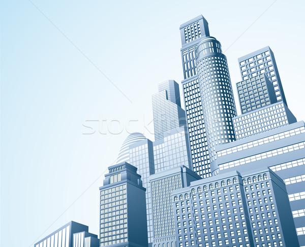 Financial distrait urban city scape Stock photo © Krisdog