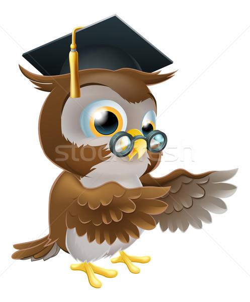 Teacher owl pointing Stock photo © Krisdog
