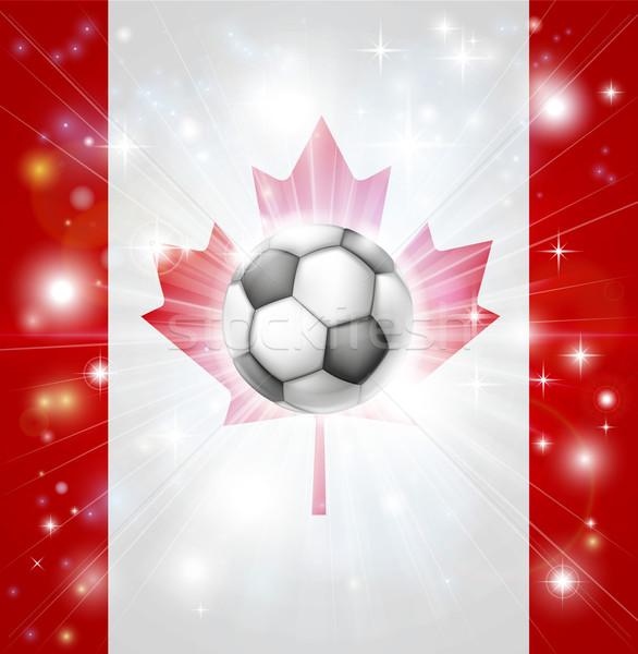 Canada soccer flag Stock photo © Krisdog