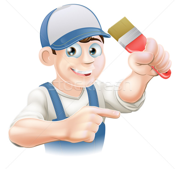 Painter decorator pointing Stock photo © Krisdog