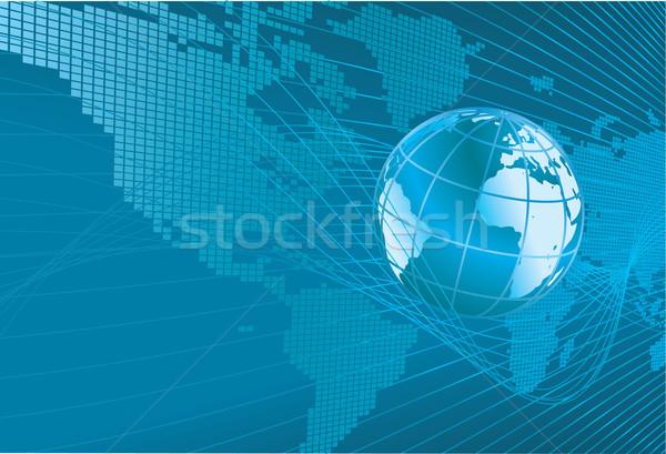 ストックフォト: 世界地図 · 世界中 · ダイナミック · 3D · 地図 · 抽象的な