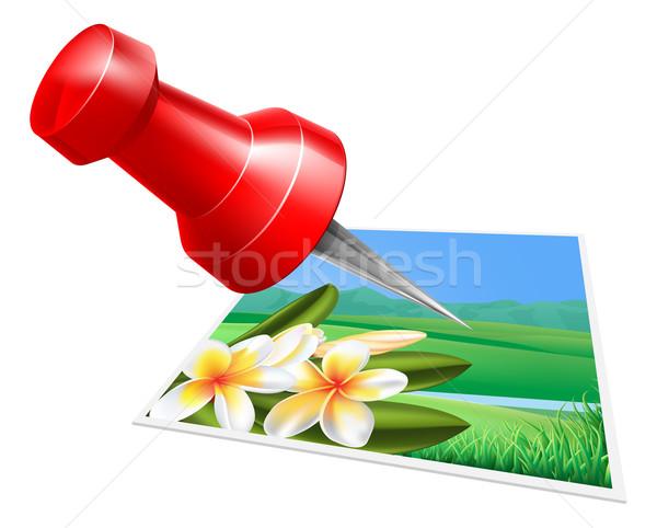 Pinning photo icon Stock photo © Krisdog