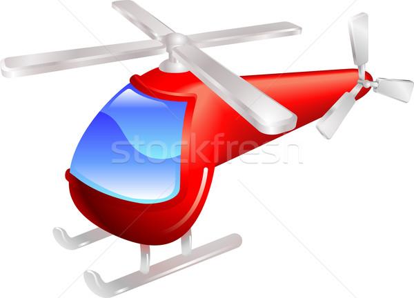 Helicopter vector illustration Stock photo © Krisdog