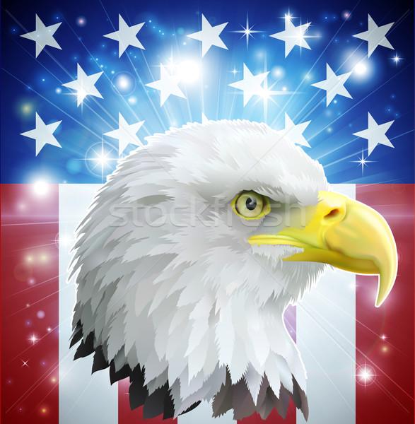 Stock fotó: Amerika · sas · zászló · szeretet · szív · amerikai
