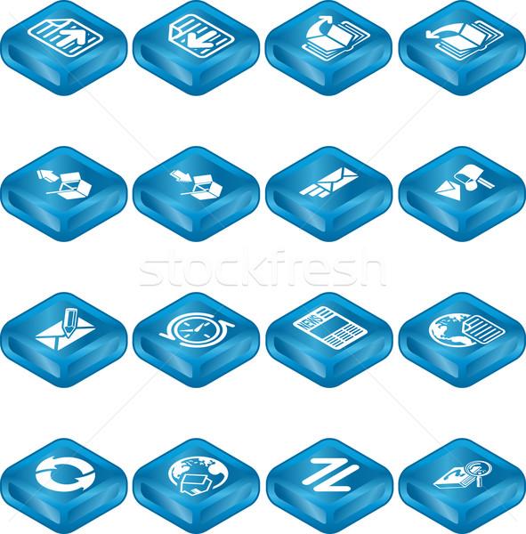 Stock fotó: Internet · böngésző · email · ikon · gyűjtemény · üzlet · üveg