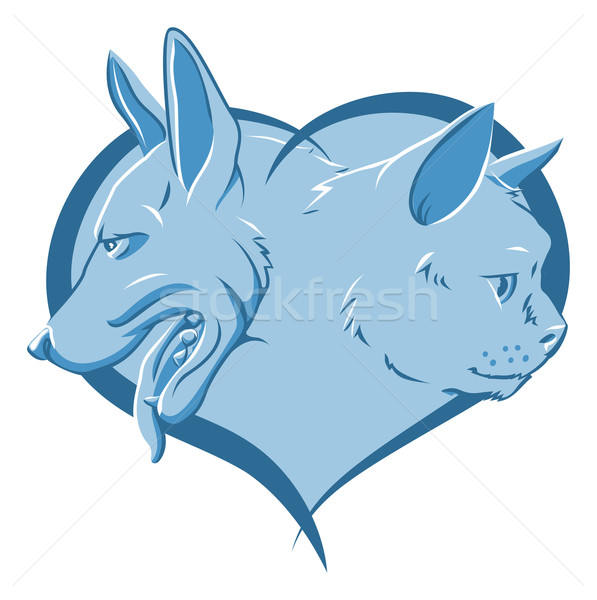 Abstract pets heart Stock photo © Krisdog