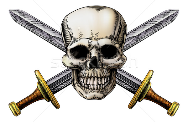 Cross Swords and Skull Stock photo © Krisdog