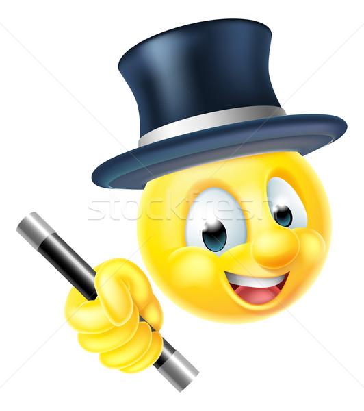 ストックフォト: 2015 · 顔文字 · 笑顔 · マジシャン · 文字
