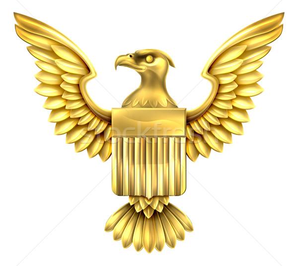 Gold American Eagle Shield  Stock photo © Krisdog