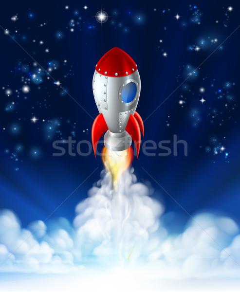Rocket Lift Off Stock photo © Krisdog