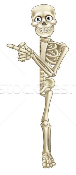 Cartoon Skeleton Pointing Stock photo © Krisdog