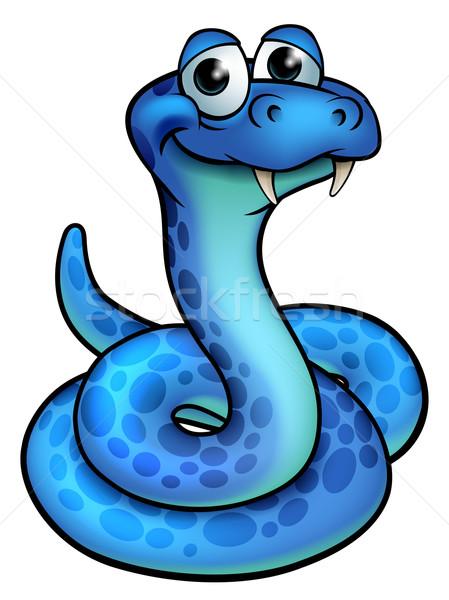 Cartoon serpiente cute diseno fondo Foto stock © Krisdog