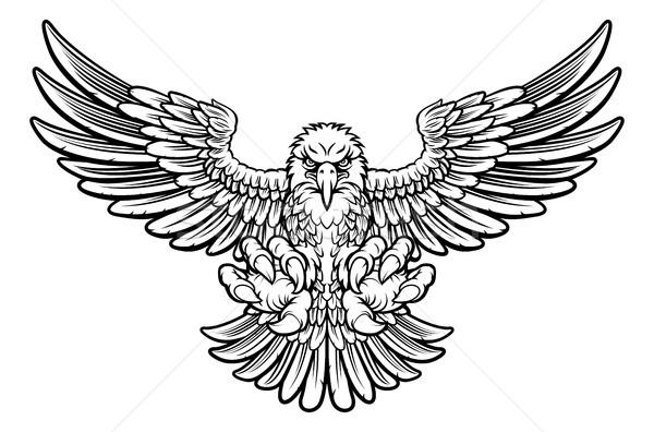 Féroce aigle style chauve mascotte Photo stock © Krisdog