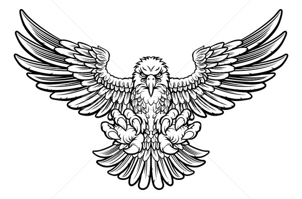 Stock photo: Ferocious Eagle