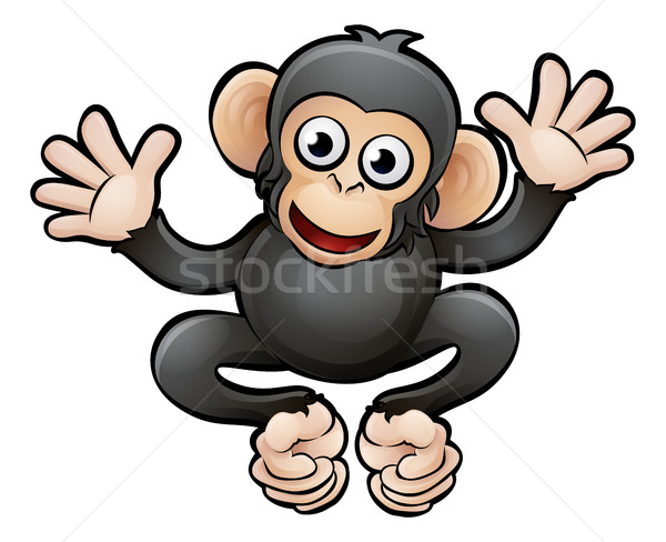 Chimpansee safari dieren chimpansee baby boek Stockfoto © Krisdog