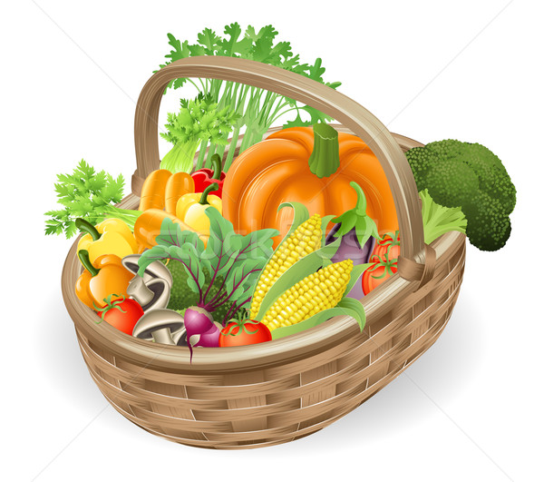 Basket fresh vegetables Stock photo © Krisdog