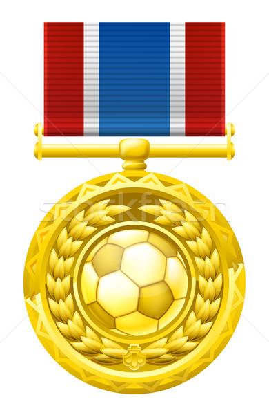 Soccer football medal Stock photo © Krisdog