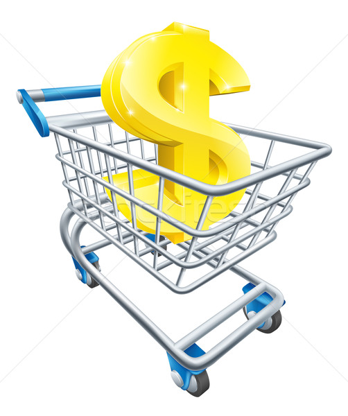Dollar money trolley concept Stock photo © Krisdog