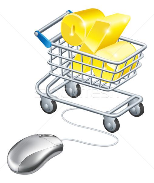 パーセンテージ にログイン コンピューターのマウス ショッピング ベスト ストックフォト © Krisdog