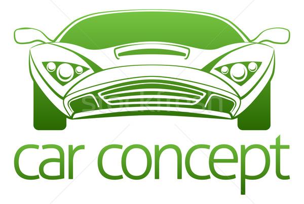 Luxus autó absztrakt illusztráció sportautó terv Stock fotó © Krisdog