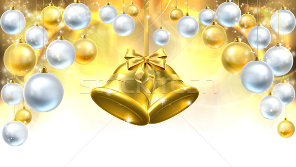 Christmas Bells Decorations Background Stock photo © Krisdog