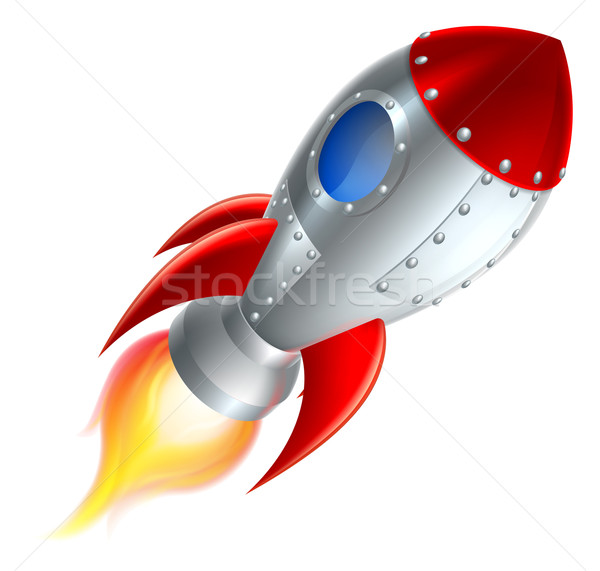 Foguete espaço navio desenho animado ilustração projeto Foto stock © Krisdog