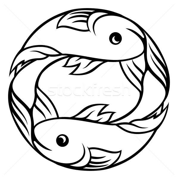 állatöv feliratok hal horoszkóp asztrológia felirat Stock fotó © Krisdog