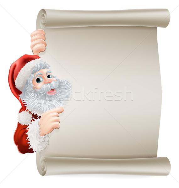 Santa Christmas Poster Stock photo © Krisdog