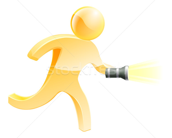 Searching torch person Stock photo © Krisdog